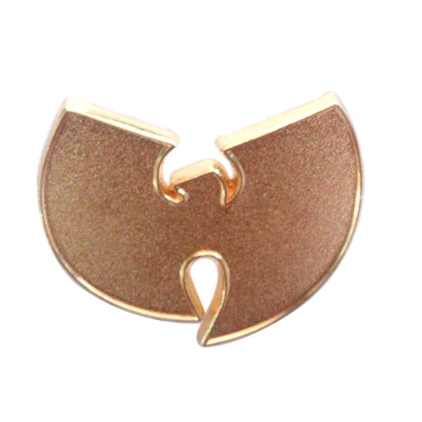3D wu tang lapel pin with gold plated
