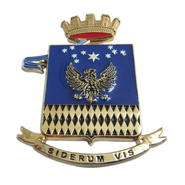 Custom 3D military plaque badge with gold plated