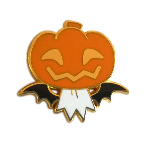 Pumpkin enamel metal pin with high quality