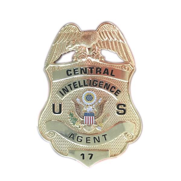custom 3D security gold metal badge