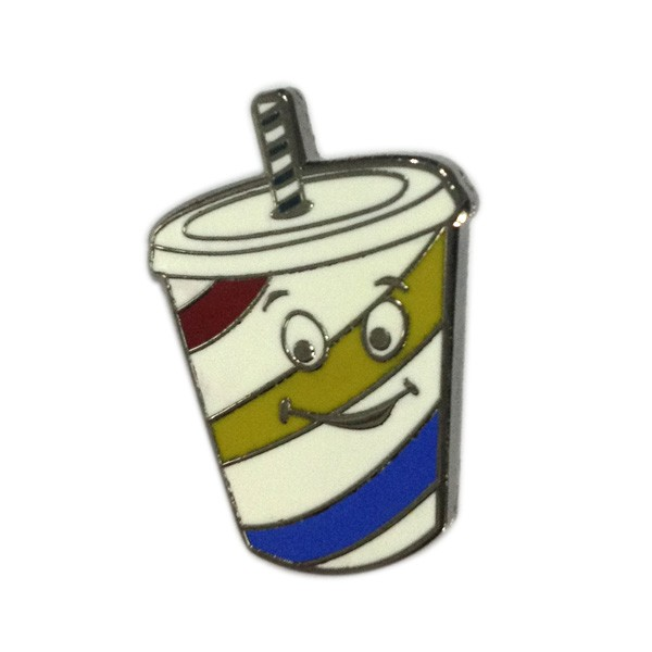 custom cup shaped hard enamel pin badge