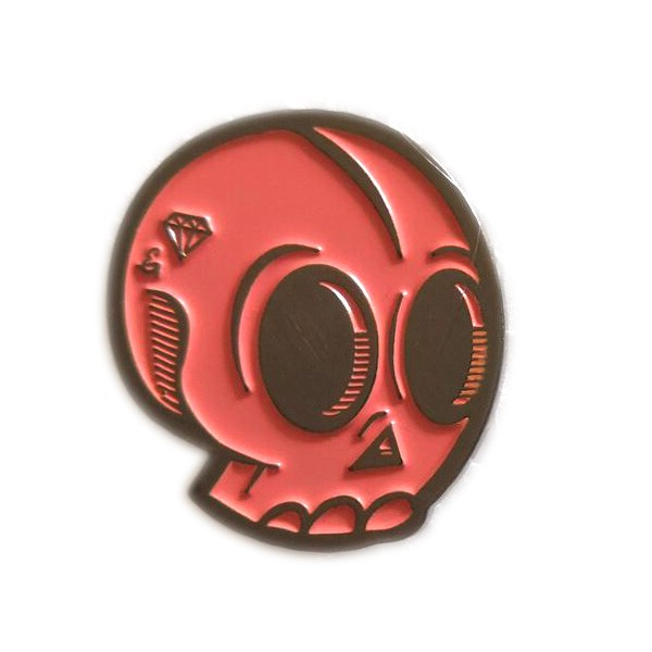 custom metal skull lapel pin cheap pin