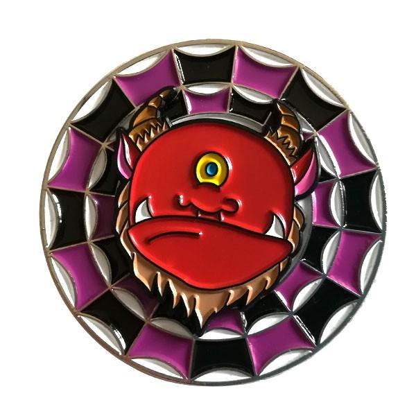 enamel spinner custom lapel pin badge