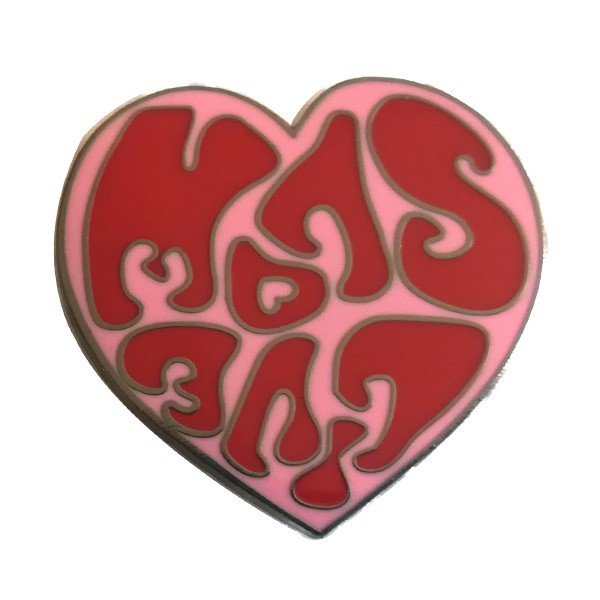 heart shaped hard enamel metal pin