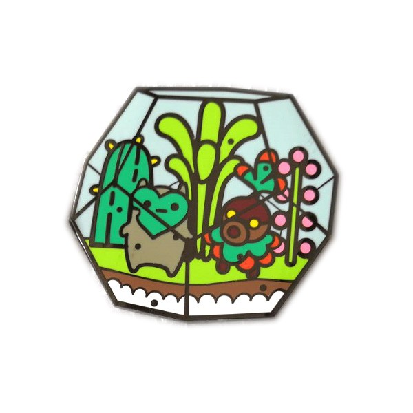 high quality cactus enamel lapel pin