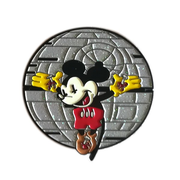 mouse lapel pin badge with glitter