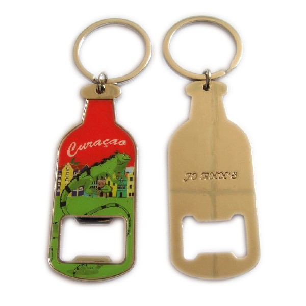 Custom bottle shaped beer bottle opener keyring