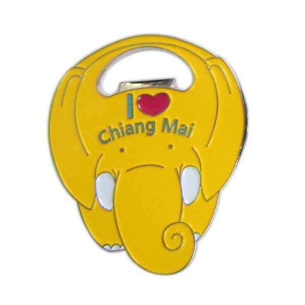 Custom elephant shapped enamel bottle opener
