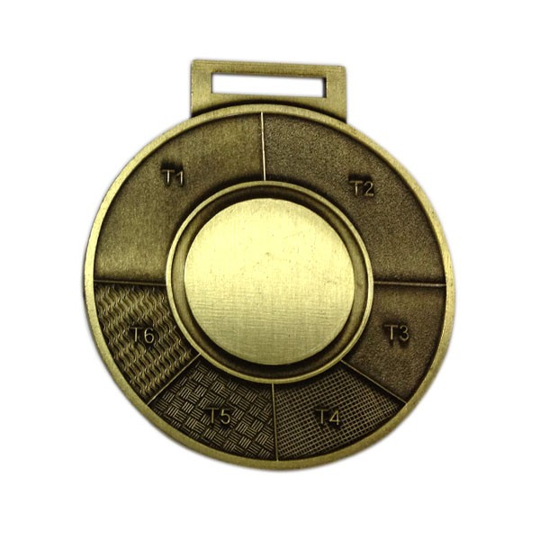 Cheap sandblasted antique bronze medal