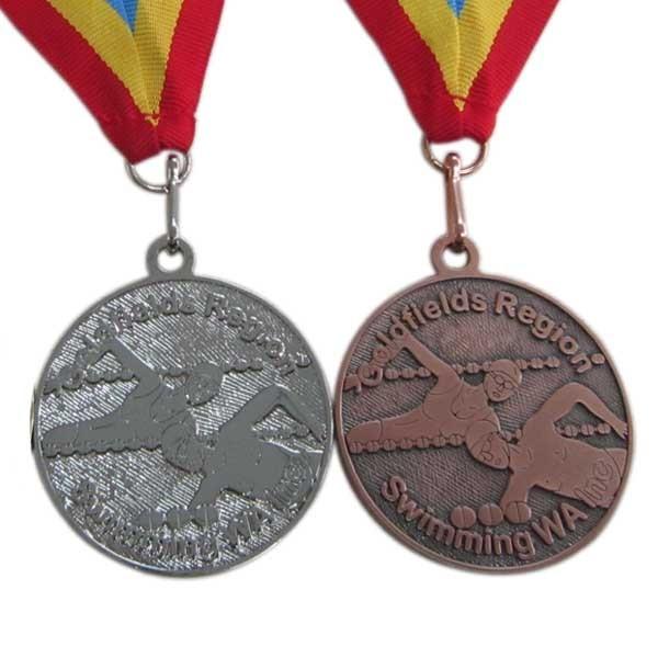 Custom bespoke medals swim medal