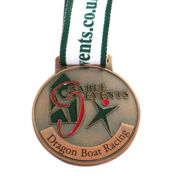 Custom copper racing medal for events