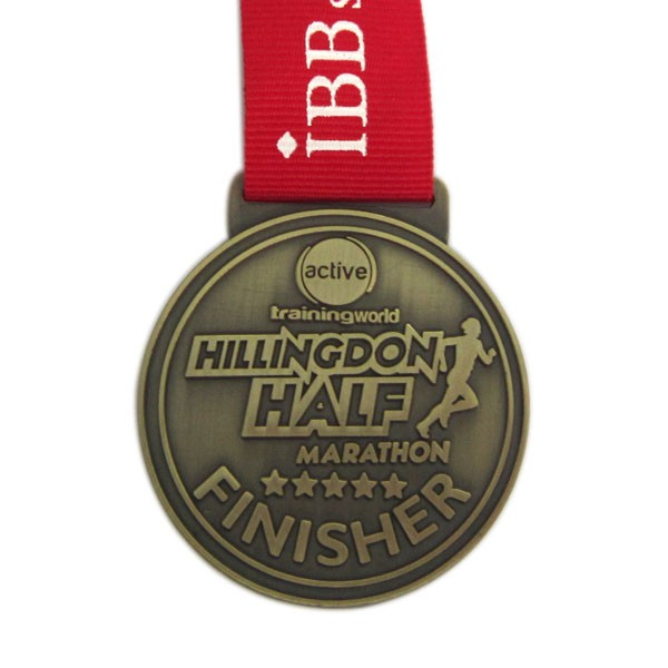 Custom half marathon medal medallion for run