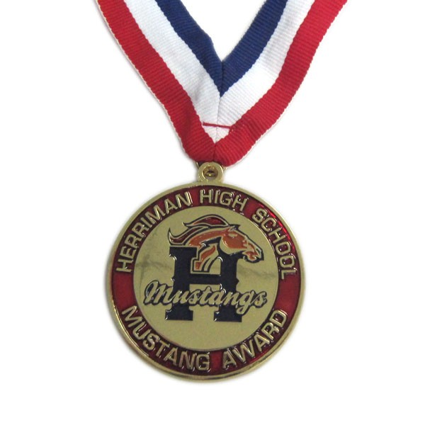 Custom high school gold medal